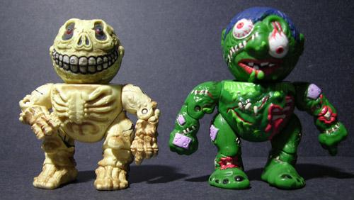 Skull Face and Slobulus of the '86 Madballs.